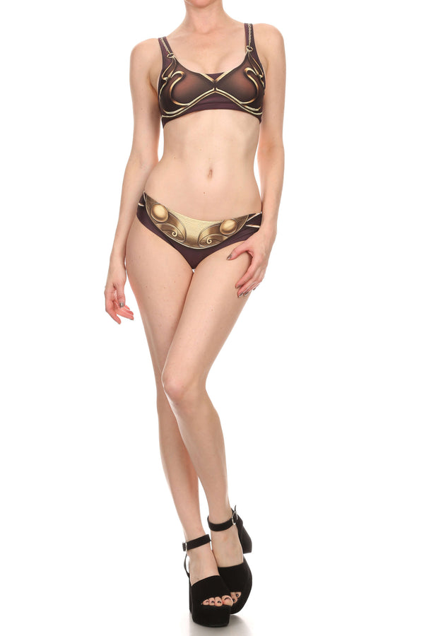Gold Metal Swim Top - POPRAGEOUS  - 4