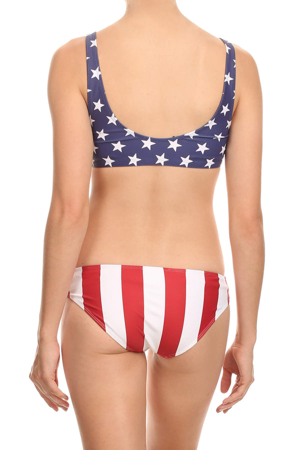 Red Stripes Full Bikini Bottom - POPRAGEOUS  - 1