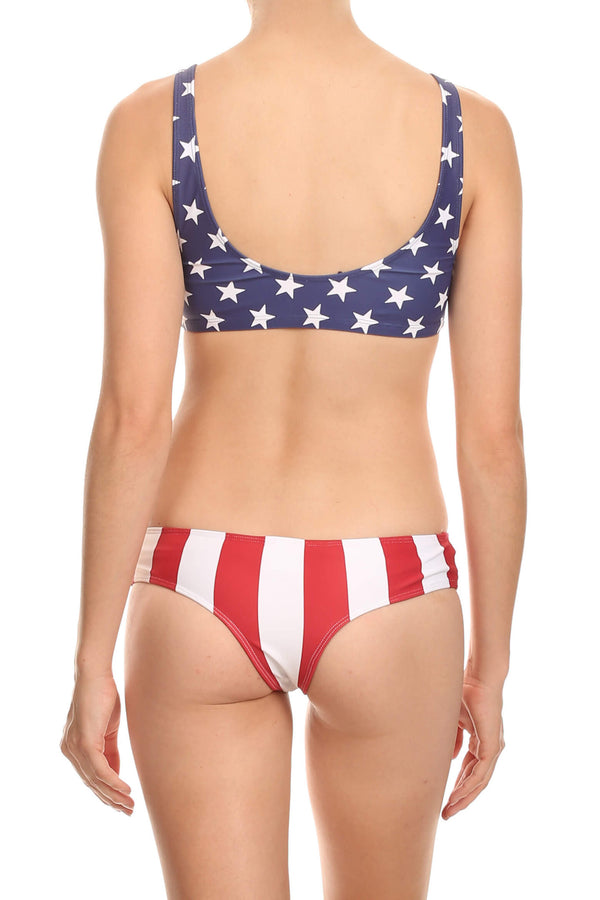 Red Stripes Brazilian Bottom - POPRAGEOUS  - 1