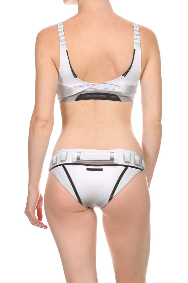 White Robotic Full Bikini Bottom - LIMITED - POPRAGEOUS  - 1