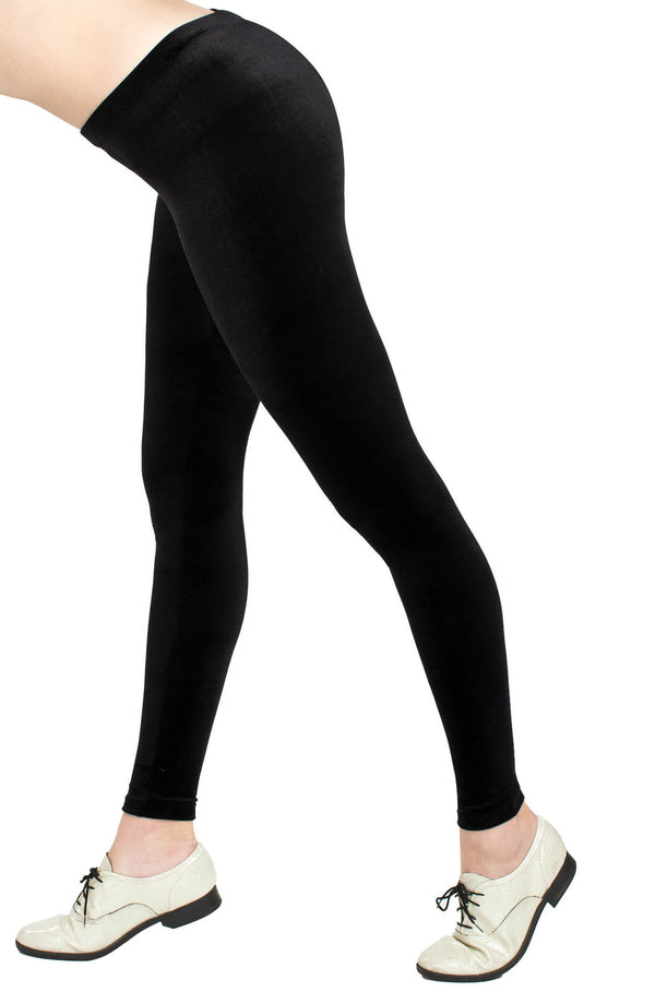 Black Velvet Leggings - POPRAGEOUS  - 2
