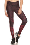 Stencil Flora Dream Leggings - Burgundy - POPRAGEOUS  - 1