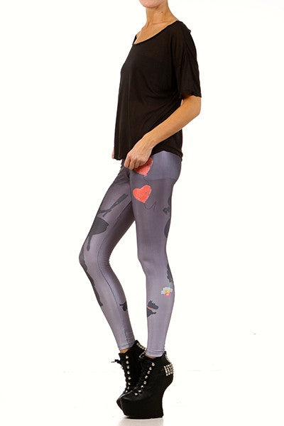 Girl Saves Boy Leggings - POPRAGEOUS  - 2