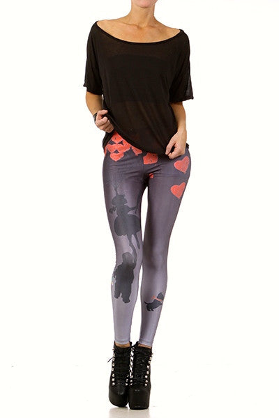 Girl Saves Boy Leggings - POPRAGEOUS  - 1