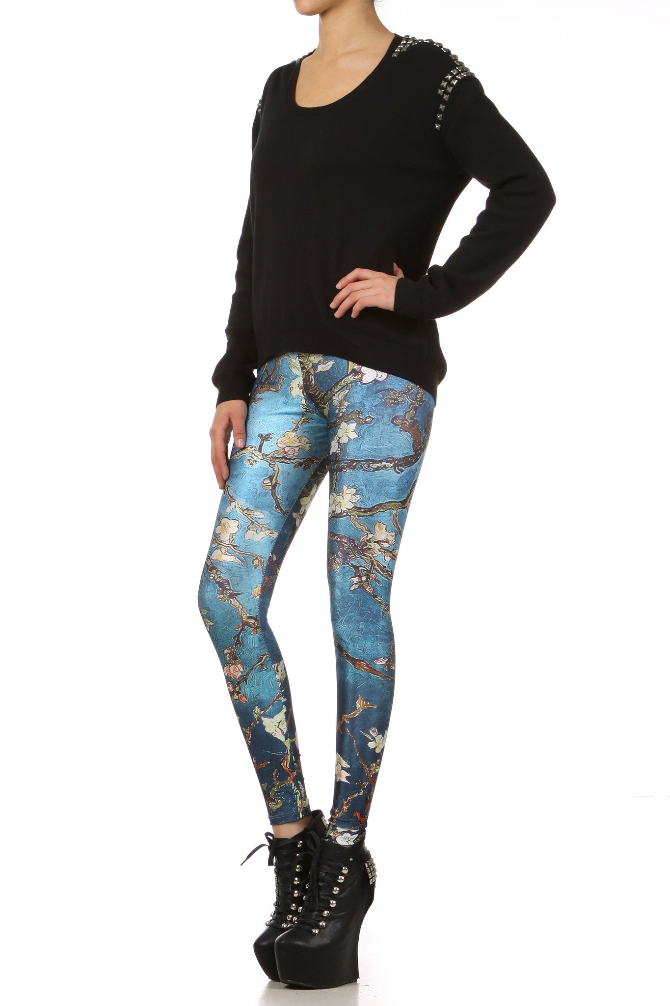 Almond Blossom Leggings - POPRAGEOUS  - 2