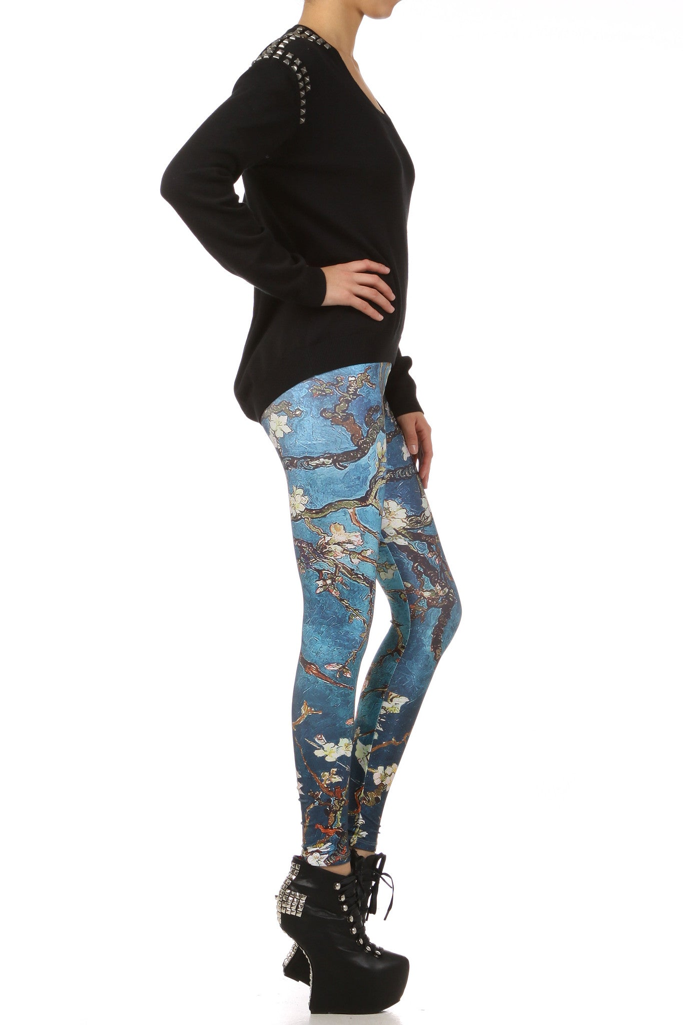 Almond Blossom Leggings - POPRAGEOUS  - 3