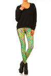 Klimt Flower Leggings - XXS - POPRAGEOUS  - 1