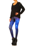 Blue Galaxy Leggings - POPRAGEOUS  - 2