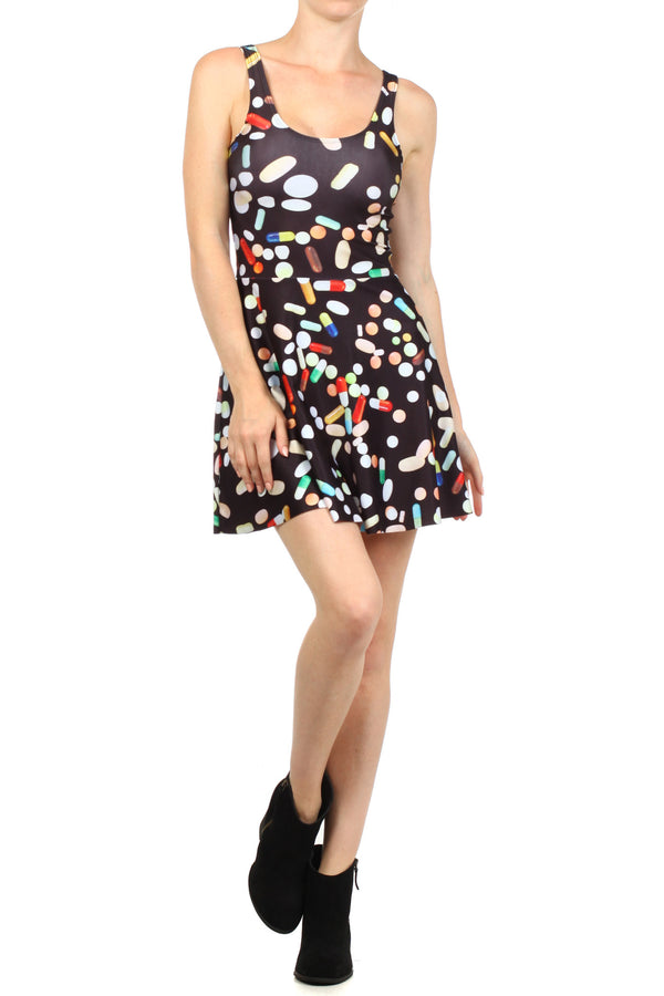 Chill Pill Skater Dress - POPRAGEOUS  - 1
