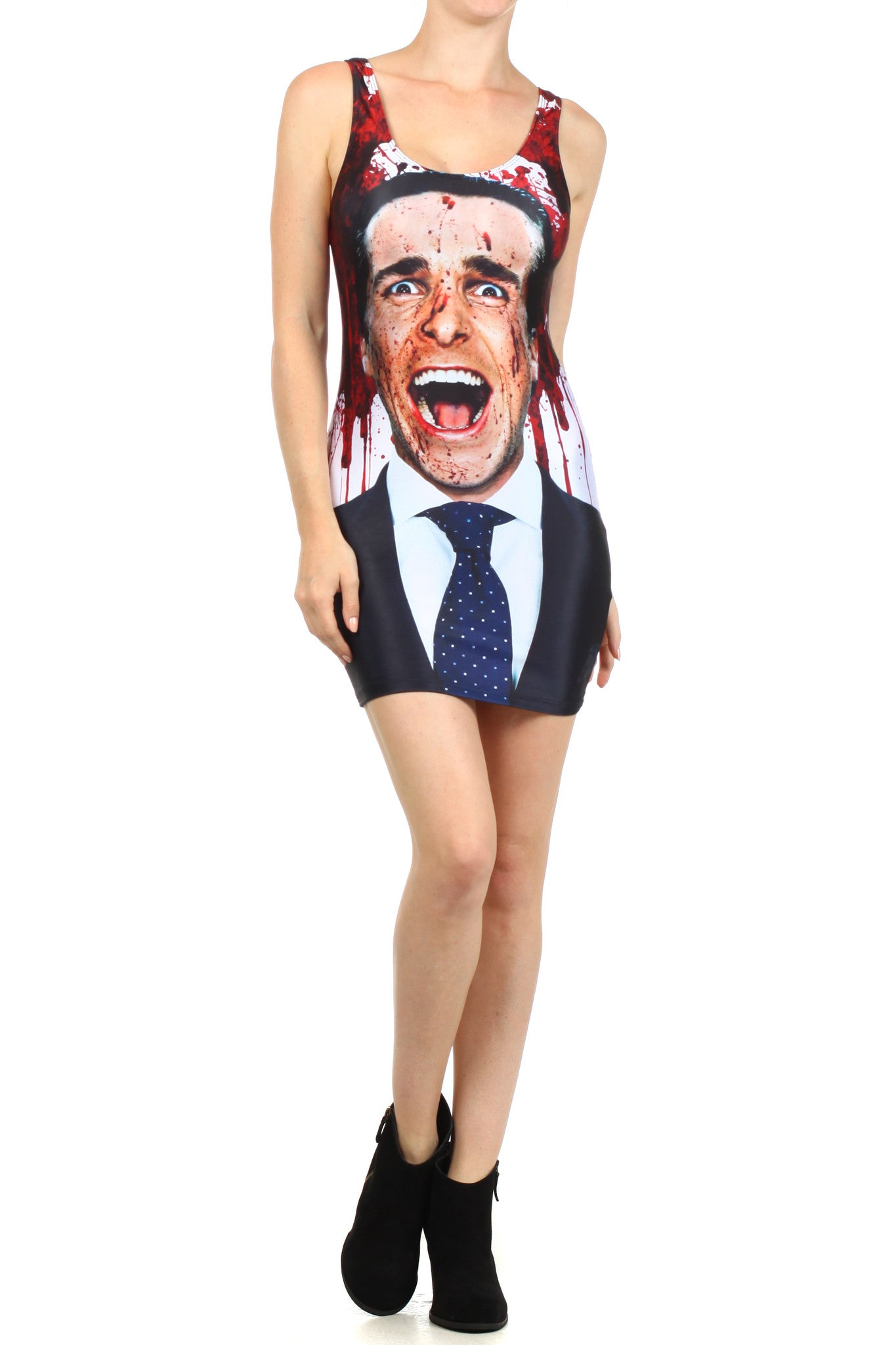 American Psycho Bodycon Dress - POPRAGEOUS  - 1