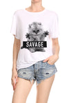 Savage Kitten Relaxed Tee - POPRAGEOUS