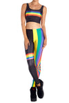 Retro Rainbow Leggings - POPRAGEOUS  - 1