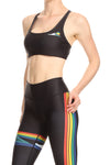 Rainbow Surf Aurora Bra - Black