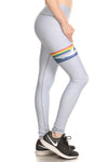 Rainbow Surf Dream Leggings - Stone