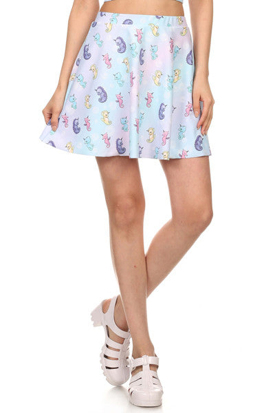 Mystic Sea Unicorn Skater Skirt