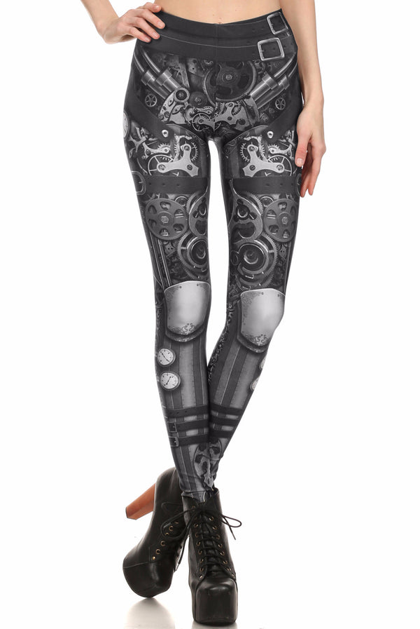 Steampunk Leggings - Monochromatic