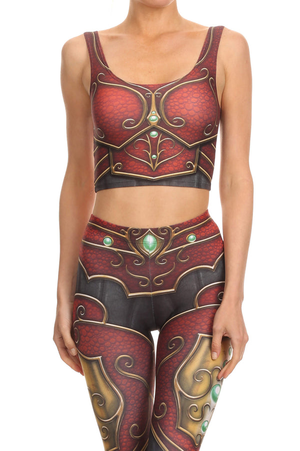 Elf Armor Crop Top - POPRAGEOUS  - 1