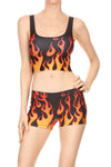 Flame Crop Top