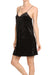 Crushed Velvet Slip Dress - Noir