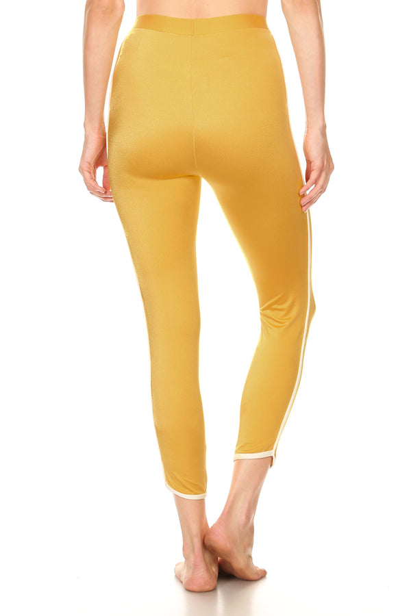 Mustard/Yellow Track Leggings