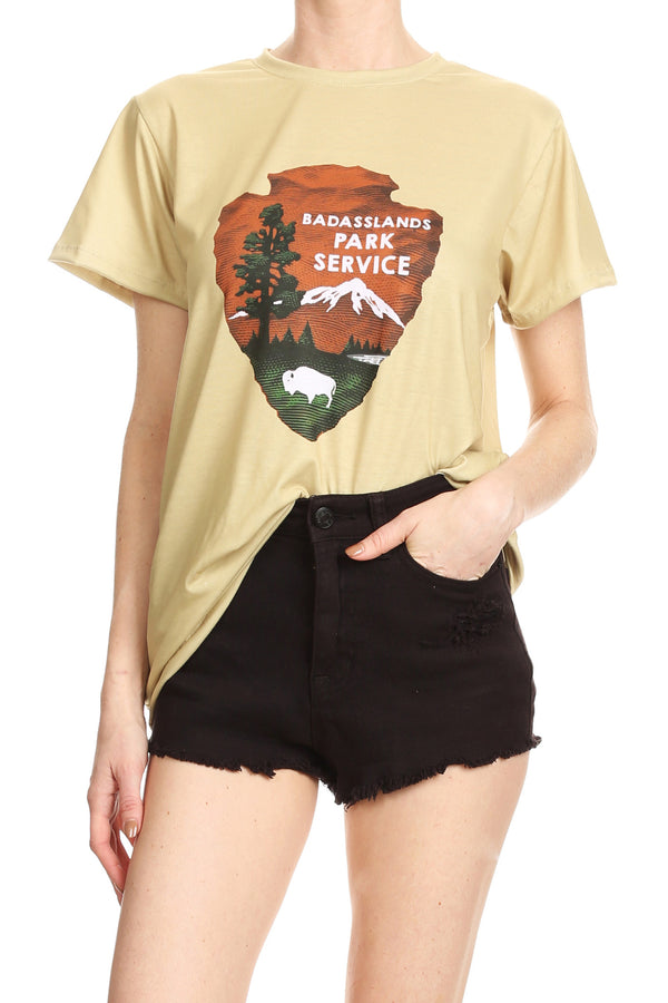 Badasslands Relaxed Tee - POPRAGEOUS  - 1