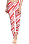 Candy Cane Leggings - POPRAGEOUS  - 1