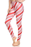 Candy Cane Leggings - POPRAGEOUS  - 3