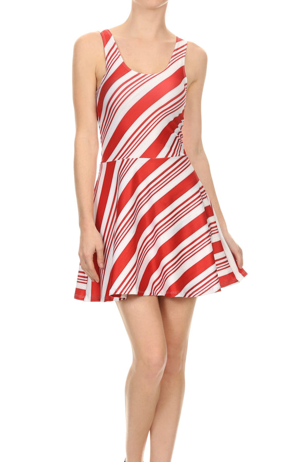 Candy Cane Skater Dress - POPRAGEOUS  - 5