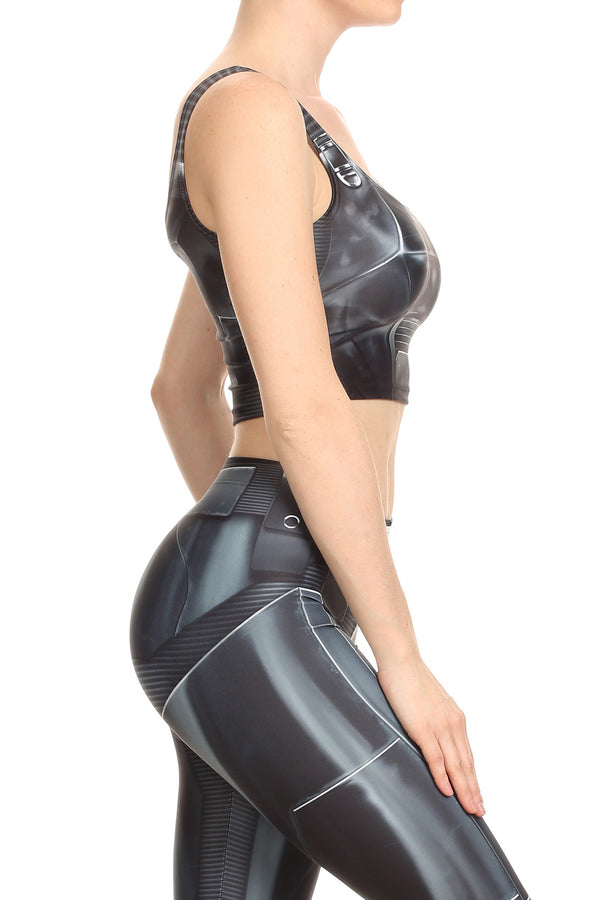 Dark Robotic Crop Top - POPRAGEOUS  - 3