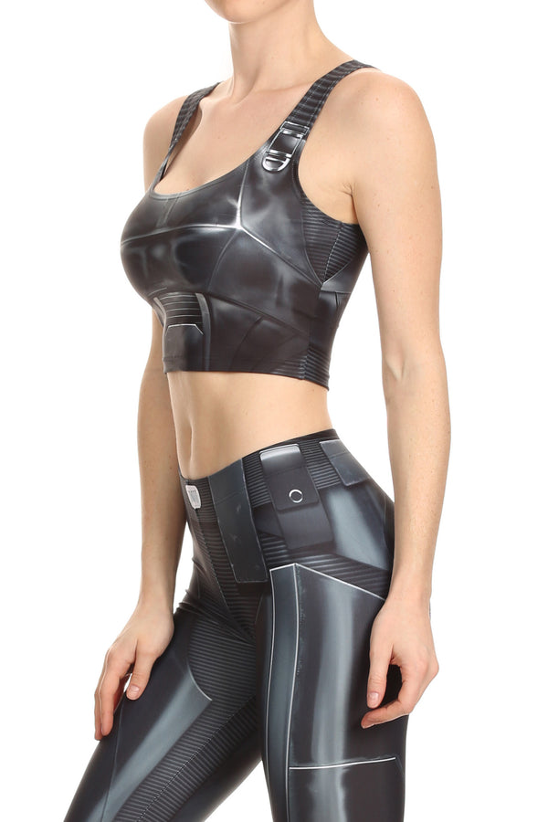 Dark Robotic Crop Top - POPRAGEOUS  - 2