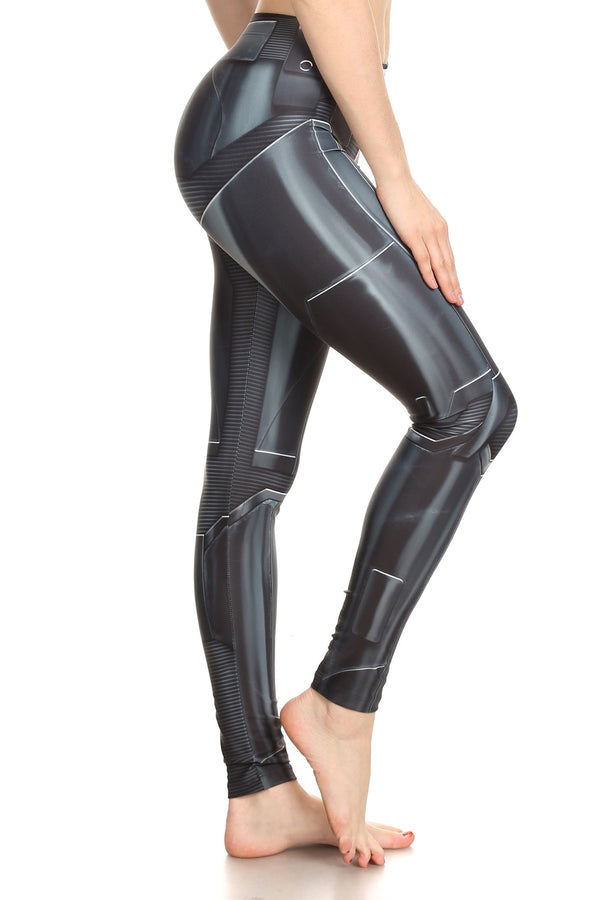 Dark Robotic Leggings - POPRAGEOUS  - 2