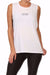 DO NOT DISTURB POPSOFT Muscle Tank - White