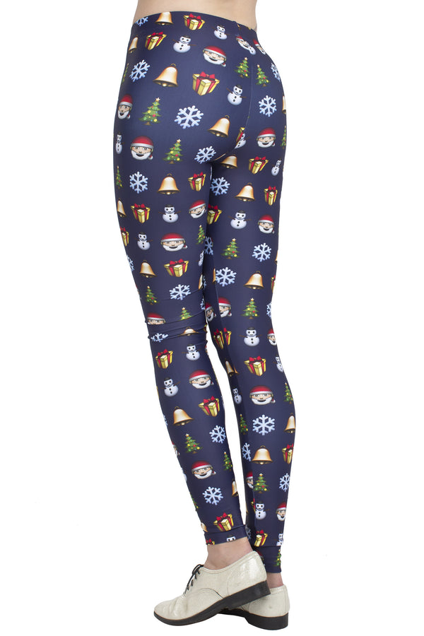 Christmas Emoji Leggings - POPRAGEOUS  - 3