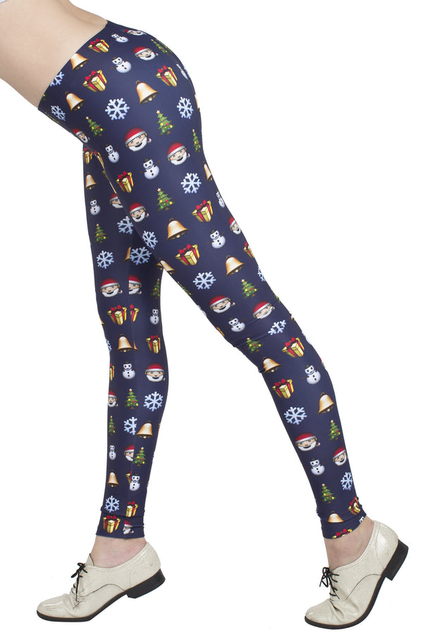 Christmas Emoji Leggings - POPRAGEOUS  - 2