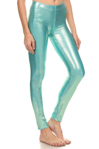 Golden Sea Foam Molten Leggings - POPRAGEOUS  - 1