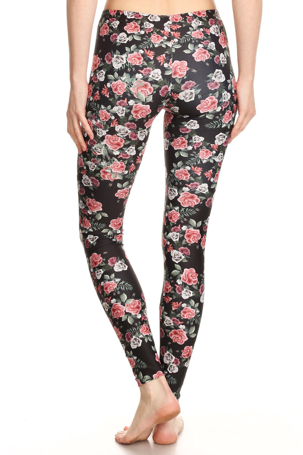 Pink Roses Leggings - POPRAGEOUS  - 4