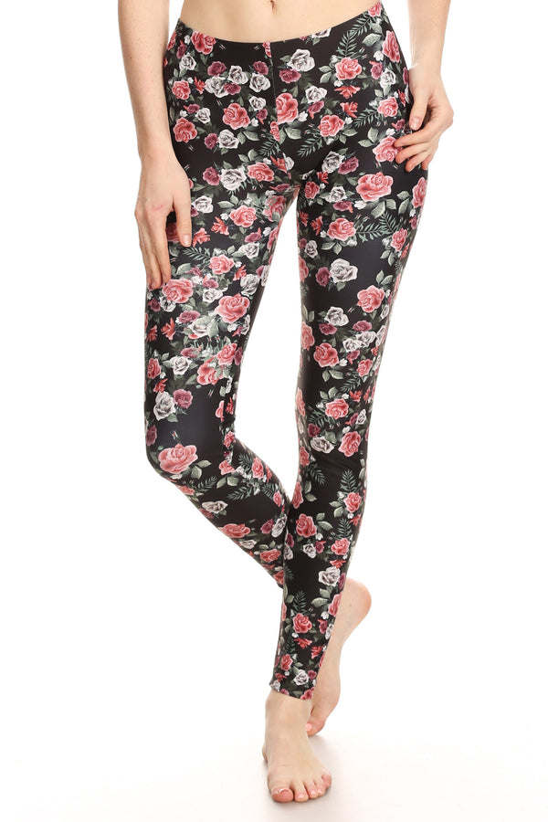 Pink Roses Leggings - POPRAGEOUS  - 1
