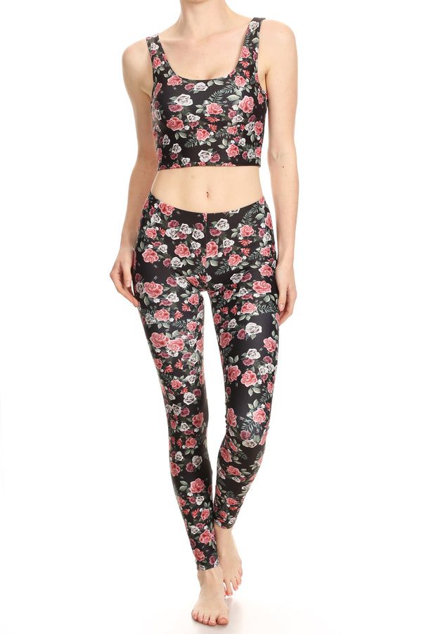 Pink Roses Leggings - POPRAGEOUS  - 5
