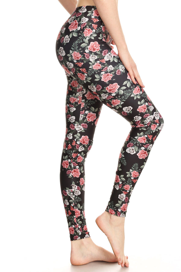 Pink Roses Leggings - POPRAGEOUS  - 2