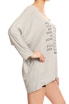 POPSOFT Rewrite the Fairytale Dolman Top - Grey