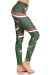Sporty Santa Leggings - POPRAGEOUS  - 4