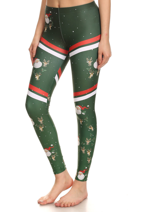 Sporty Santa Leggings - POPRAGEOUS  - 5