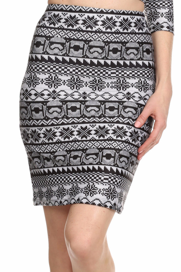Trooper Fair Isle Ariel Skirt - POPRAGEOUS  - 1