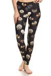 Vintage Turkey Leggings - Black - POPRAGEOUS  - 1