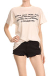 Women Need More Sleep Relaxed Tee - Cream