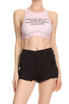 Women Need More Sleep Sporty Crop Top - Sherbet
