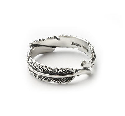 FEATHER DUET RING