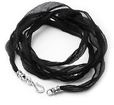 SILK CORD w/ SILVER HOOK 34-35 INCHES