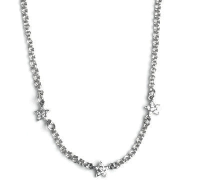 STARSHINE NECKLACE w/ TINY WINGS & PAVÉ DIAMONDS