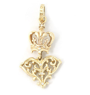 PAGEANTRY HEART PENDANT w/ DIAMONDS